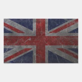 Metal Vintage Union Jack Flag Rectangular Sticker