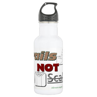 """Metal Water bottle """"Trails NOT Scales"""""""