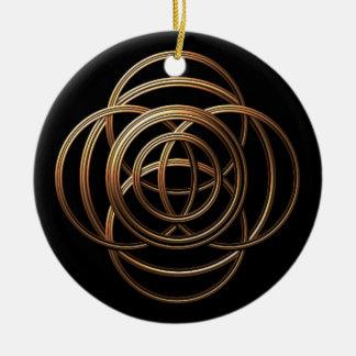 Metal Weave Round Ceramic Decoration