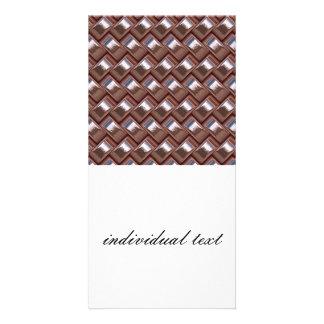 metal Weave pink (I) Customised Photo Card