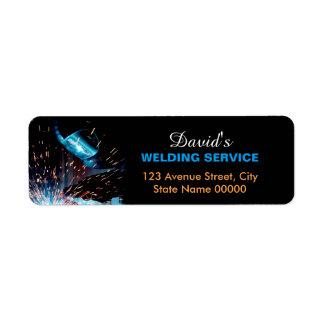 Metal Welding Fabrication Address Label
