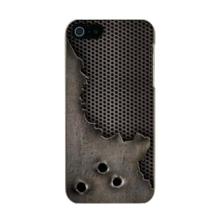 Metal with bullet holes background incipio feather® shine iPhone 5 case
