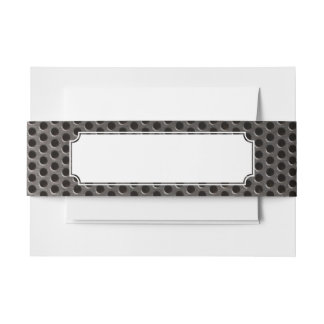 Metal with bullet holes background invitation belly band