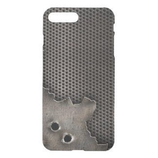 Metal with bullet holes background iPhone 7 plus case