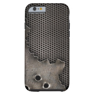 Metal with bullet holes background tough iPhone 6 case