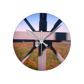 Metal Works Round Clock