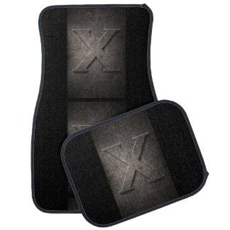 Metal X Monogram Set of Car Mats Car Mat