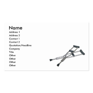 MetalCrutches082010, Name, Address 1, Address 2... Double-Sided Standard Business Cards (Pack Of 100)