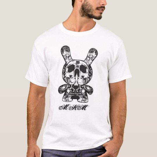 MetalHeadMax Ornate Skeleton Rabbit T-shirt