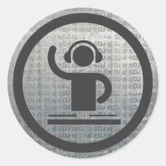 Metalic dj icon sticker