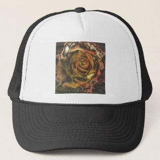 Metalic Golden Rose Trucker Hat