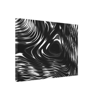 Metalic Liquid in Black and White Gallery Wrap Canvas