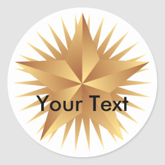 Metalic Look Gold Star Stickers
