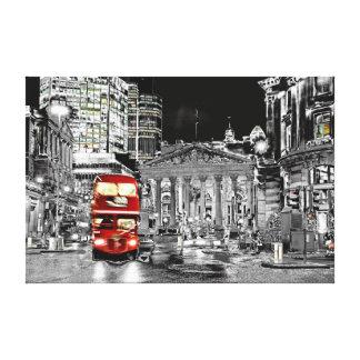 Metalic night London city Canvas Prints