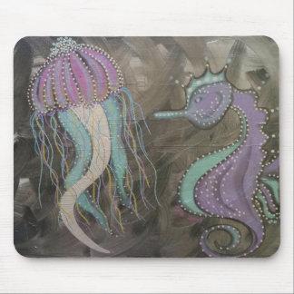 Metalic seahorses mouse mat