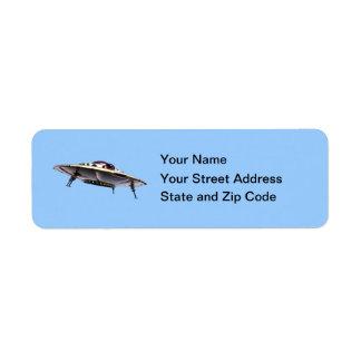 Metalic UFO Label Return Address Label
