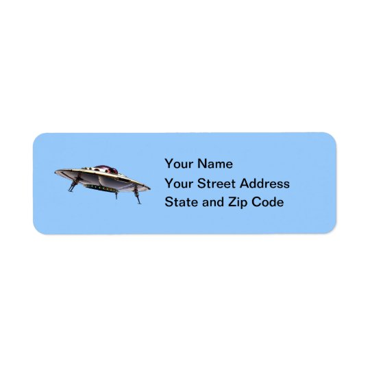 Metalic UFO Label Return Address Label