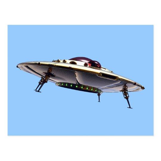 Metalic UFO Postcard