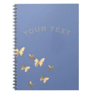 Metalised butterflies notebook
