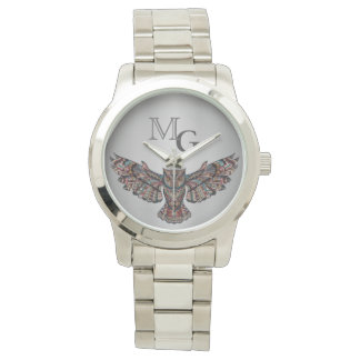 Metalized Owl Art Watch