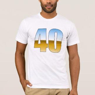 Metallic 40th Birthday T-Shirt