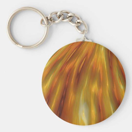 Metallic Amber Waves Of Grain Basic Round Button Key Ring