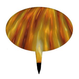 Metallic Amber Waves Of Grain Cake Topper
