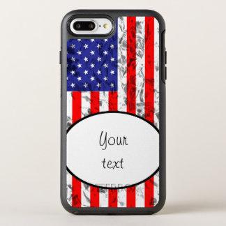 Metallic American Flag Design 2 OtterBox Symmetry iPhone 8 Plus/7 Plus Case