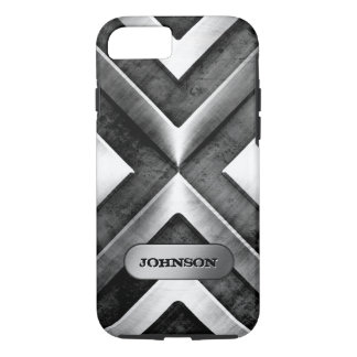 Metallic Armor with Name Plate - Military Pattern iPhone 8/7 Case