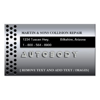 METALLIC AUTO BUSINESS CARDS