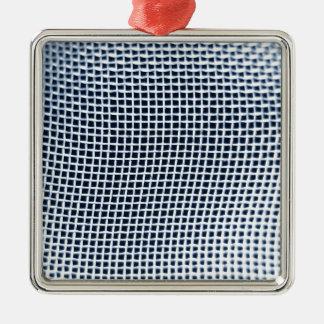 Metallic background Silver-Colored square decoration