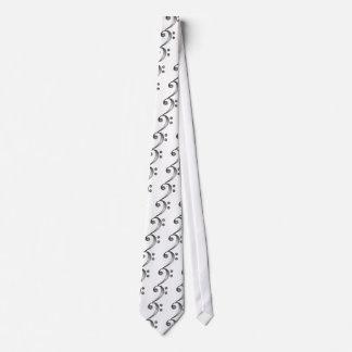 Metallic Bass Clef Tie