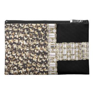 Metallic Beads Glitter & Rhinestones Cosmetic Case Travel Accessories Bag