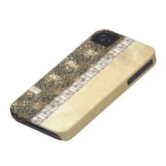 Metallic Beads Glitter & Rhinestones IPhone Case iPhone 4 Cases