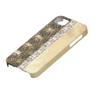 Metallic Beads Glitter & Rhinestones IPhone Case Barely There iPhone 5 Case