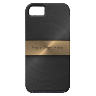 Metallic Black And Gold Tough iPhone 5 Case