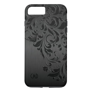 Metallic Black & Black Lace iPhone 8 Plus/7 Plus Case