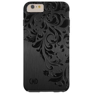 Metallic Black & Black Lace Tough iPhone 6 Plus Case