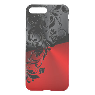Metallic Black & Red With Black Lace iPhone 8 Plus/7 Plus Case