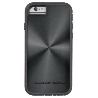 Metallic Black Tones Stainless Steel Look Tough Xtreme iPhone 6 Case