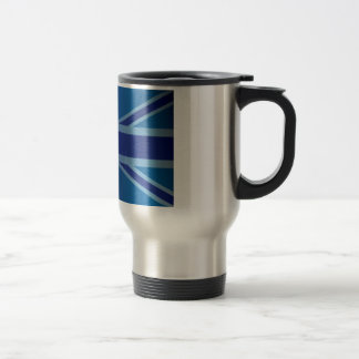 Metallic Blue Classic Union Jack British(UK) Flag Travel Mug