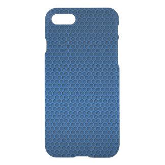 Metallic Blue Graphite Honeycomb Carbon Fibre iPhone 7 Case