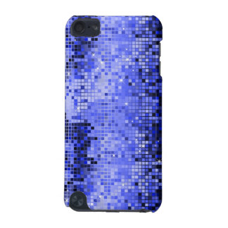 Metallic Blue Sequins Look Disco Mirrors Bling iPod Touch 5G Case