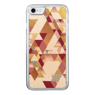 Metallic Blush Geometric Triangles Carved iPhone 8/7 Case