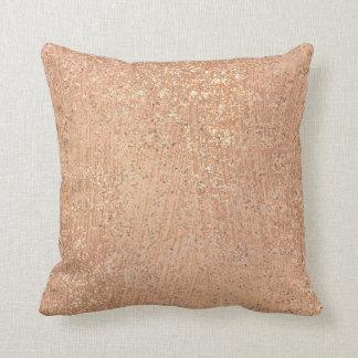 Metallic Blush Rose Gold Makeup Sparkly Copper Cushion