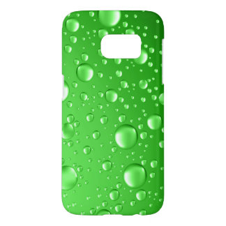Metallic Bright Green Rain Drops