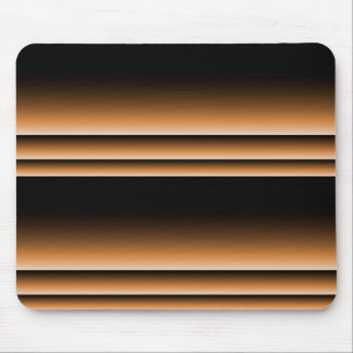 Metallic Bronze Copper Brown Ombre Stripes Mouse Pad