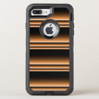 Metallic Bronze Copper Brown Ombre Stripes OtterBox Defender iPhone 8 Plus/7 Plus Case
