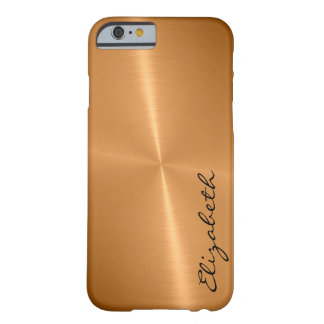 Metallic Bronze Stainless Steel Metal Look #2 Barely There iPhone 6 Case
