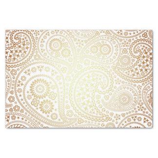 Metallic Bronze Sun Toned Paisley Pattern Tissue Paper